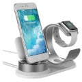 3-in-1 Halterung / Dockingstation für iPhone, AirPods, Apple Watch - Silber