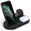 3-in-1 Drahtlose Dockingstation W55 - iPhone, AirPods, iWatch - Schwarz