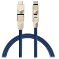 4smarts ComboCord 6-in-1 Kabel - Lightning, MicroUSB, Type-C - Blau