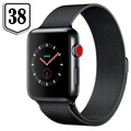 Apple Watch Series 3 LTE MR1Q2ZD/A - Edelstahlgehäuse, Milanaise Armband, 38mm, 16GB - Spacegrau/Dunkeloliv