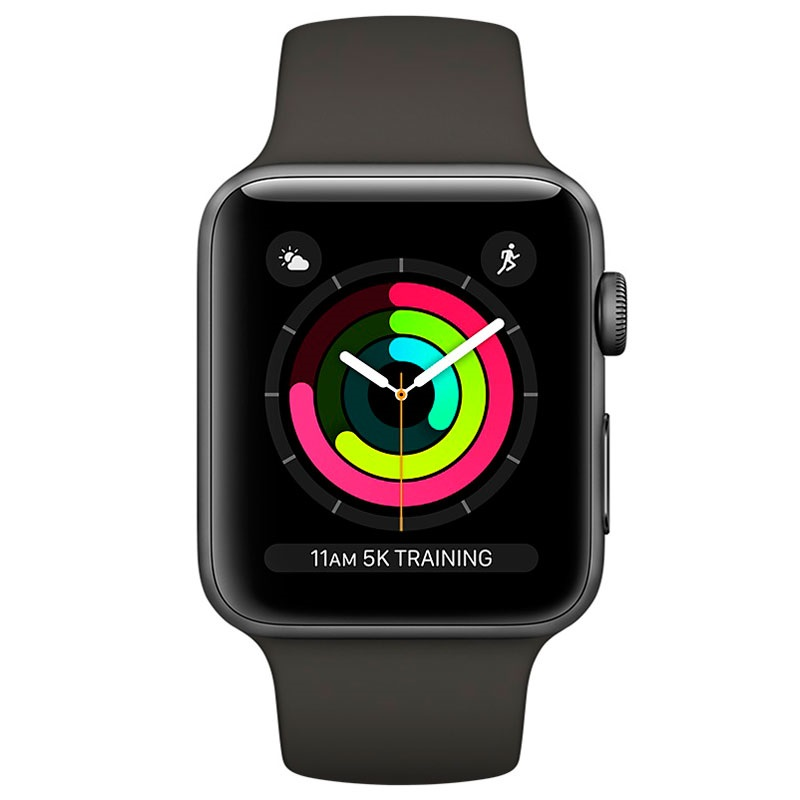 Apple Watch Series 3 MR362ZD/A - Aluminium­gehäuse, Sportarmband, 42mm, 8GB