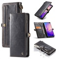 Caseme Luxury Detachable Samsung Galaxy S10+ Wallet Hülle - Schwarz