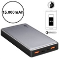 Goobay Quick Charge Powerbank - Dual USB, Typ-C - 15000mAh