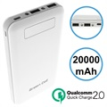 Green Cell PB93 Qualcomm Quick Charge 2.0 Powerbank - 20000mAh - Weiß