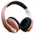 JKR 218B Faltbares Over-Ear Bluetooth Stereo Headset - Roségold