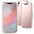 Moshi StealthCover iPhone XR Flip Hülle - Rosa