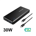RAVPower 20100mAh PD Typ-C Powerbank / USB Hub - 30W