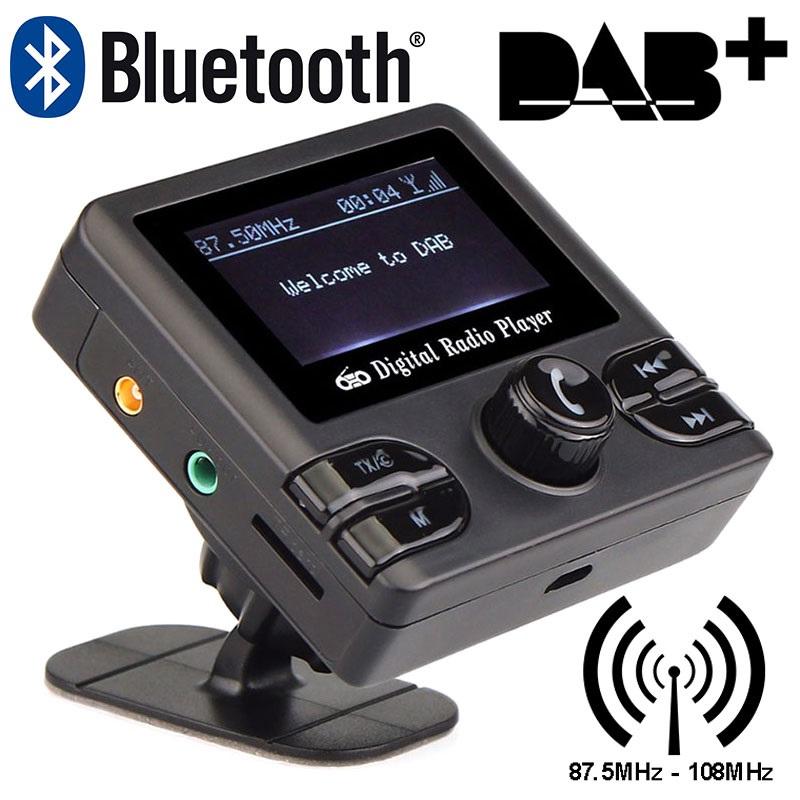 universal dab dab radio empf nger bluetooth fm transmitter. Black Bedroom Furniture Sets. Home Design Ideas