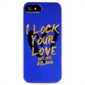 iPhone 5 / 5S / SE Puro Just Cavalli TPU Schale - Blau