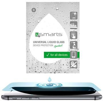 4smarts Liquid Glass Universal Displayschutz mit HD-Transparenz