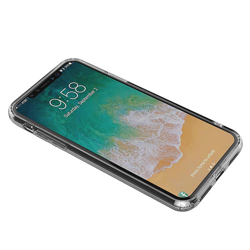 iPhone X / iPhone XS Drop Resistant Crystal TPU Case - Durchsichtig