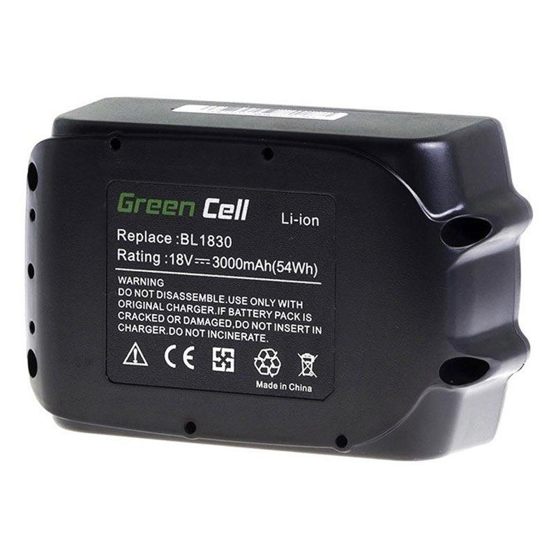 Green Cell Akku Makita BL1830, BL1835, BL1840, LXT400 3Ah