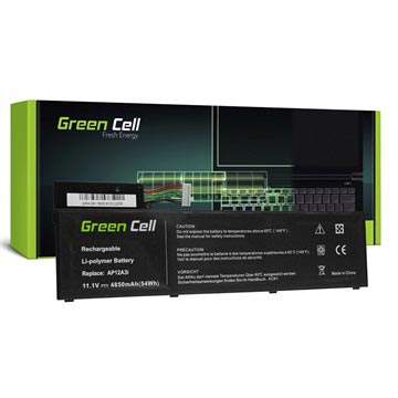 Green Cell Akku - Acer Aspire Timeline Ultra M3, M5, TravelMate - 4850mAh