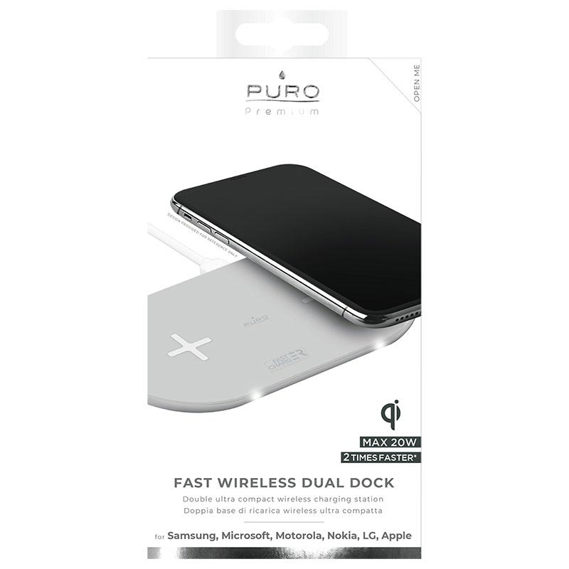 Puro Premium Dual Qi ladegerät mit Schnellladefunktion 20W