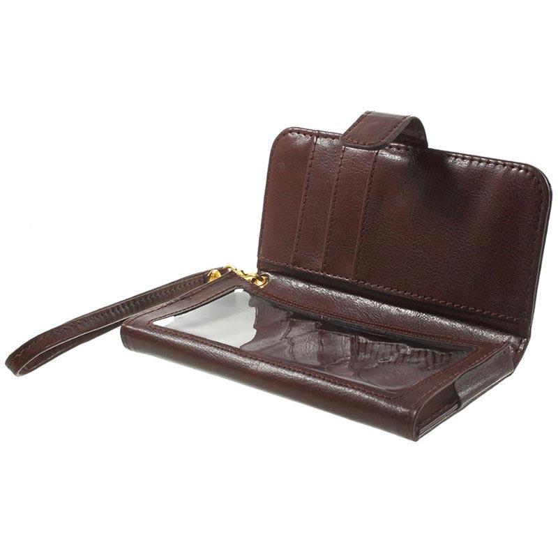 8277a46ee2f765 Universal Touchscreen Geldbörse Tasche - L - Braun